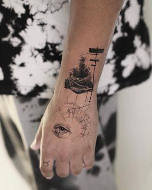 Hand tattoo by Anna Chernova aka Horror Tattoo #AnnaChernova #HorrorTattoo