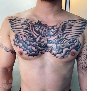 finished #sunink #非力刺青 #chinesetattoo WeChat ID:suntattoo01(only for work)........................... ........................... ........................... #tattooed #tattooart #chinesetattoo #tattooartists #tattoodo #skin #design #skinart #skinart_traditional #chinesetattoos #drawing #sketch #thebesttattooartists #routines #art #workharder #suntattoostudio #suntattooparlor #neotraditionaltattooers #neotraditional #neotraditionaltattoo #neotraditionaltattoos #neotraditionals #neotradstyle #neotrad #geometrictattoos #tattoodo #realistic