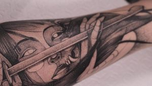 👁🗨 . . . . . #anibal_tattoo #mexico #contemporaryart #black #fineline