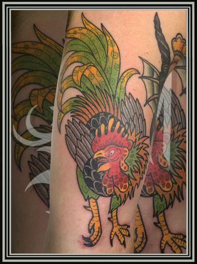 A rooster for a friend of mine ❤︎ ❤︎ ❤︎ #rooster #roostertattoo #color #colortattoo