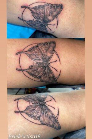 Butterfly, moon