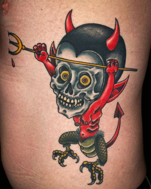 Demon baby rib tickler.  Completed in 3 sessions.