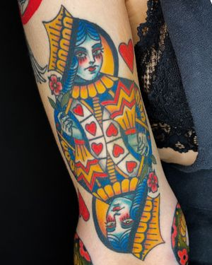 Healed and settled queen of hearts.
