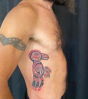 Raven Totem in Haida Style
