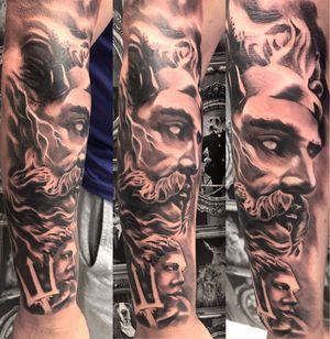 Zeus tattoo based on statue.