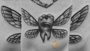 TOOTH FAIRY . . . . #ToothFairy #ToothTattoo #ToothFairyTattoo #wings #WingTattoo #eye #Spooky #PepperShading #BlackAndGray #Illustrative #Grayscale #tattoos #BodyArt #BodyMod #modification #ink #art #QueerArtist #QueerTattooist #MnArtist #MnTattoo #VisualArt #TattooArt #TattooDesign #TheTattooedLady #TattooedLadyMN #NikkiFirestarter #FirestarterTattoos #firestarter #MinnesotaTattoo