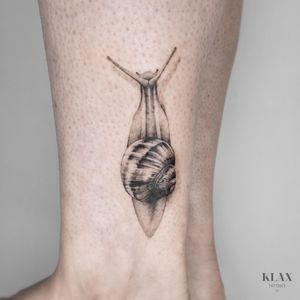 Snail Tattoo Dotwork