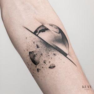Space Tattoo Dotwork