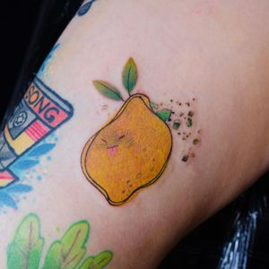 Lemon tattoo