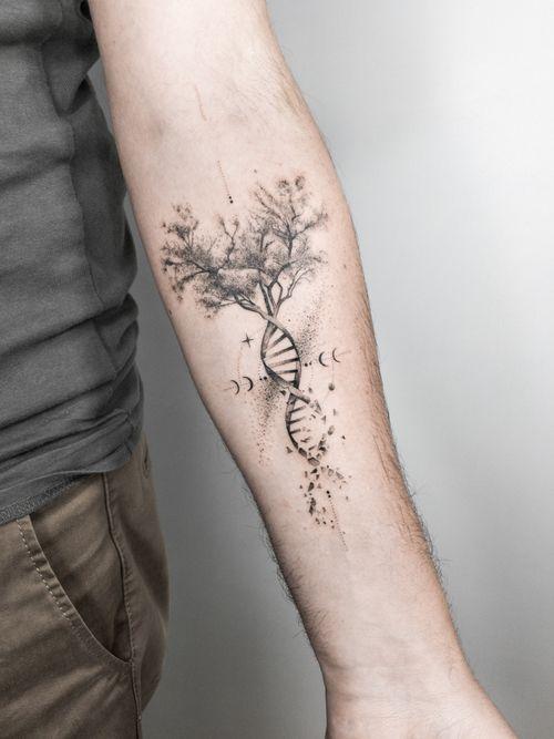 Tree Life ADN Tattoo Dotwork