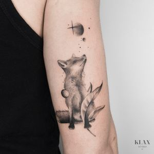 Fox / Space Tattoo Dotwork