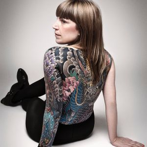 Full sleeve and back tattoo by JP Rodrigues #japanesetattoo #backtattoo #armtattoo #sleeve