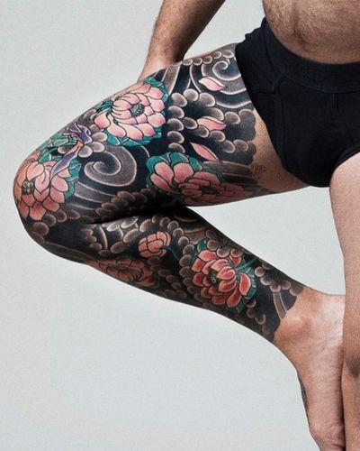 Full Leg tattoo by JP Rodrigues #japanesetattoo #legtattoo #fullsleeve