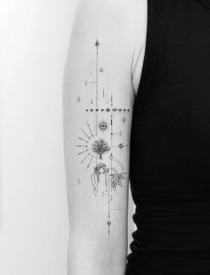 Fineline single needle tattoo