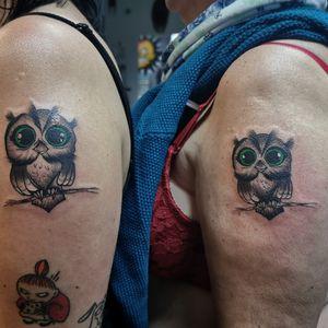 Sówki 🥺 #tattoo #tattoos #tattoolover #tattooartist #tattooist #zielonekaczki #tattoos #tatuaże #tatuaż #inkedgirls #inked #owl