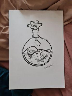 #elixir #mushroom #Eye #poison #witchcraft #illustration