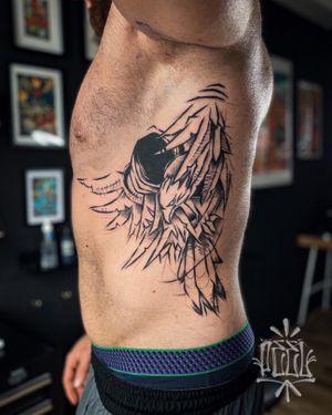 Giant sketchy eagle