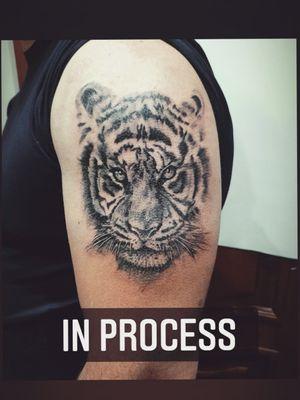 My work Not finished #mywork #tattoo #artist #tattooartist #art #Bishoprotary #eternalink #ilovetattoo #sonami #sonamiaoi #thankful #nice #portrait #face #iloveart #aquarelletattoo #colourtatto #watercolortattoo #colourtatto #Russia #tattooBryansk #2020 #tattooidea #cat #tattootiger #tiger
