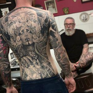 Fully Healed back piece  #tattoo #tattoodo #tattooartist #uktattooartist #fullbackpiece #alexgreycosm #mexicanart #uk #inked #arronrawtattoo #arronraw #rawtattoo