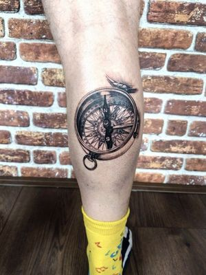 Classy compass #realism #black and grey #compass