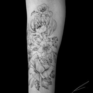 Instagram: @rusty_hst Fineline floral tattoo from the other day #fineline #floral #forearmtattoo