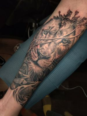 Sleeve work in progress.. different angle.