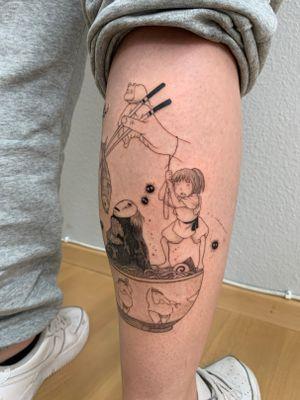 Spirited away tattoo with chihiro
