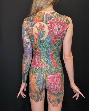 Japanese body suit #japanese #japanesetattoo #colortattoo #irezumi #bodysuit #japanesebacktattoo #backtattoo