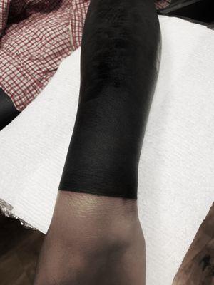 #blackouttattoo#blackwork#blackworktattoo#blackink#halfsleevetattoo#losangeles#huntingtonbeach