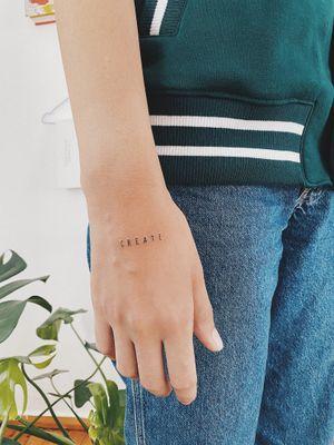 #create #lettering #letteringtattoo #linework #lineworktattoo #minimaltattoo #blackboldsociety #blxckink #oldlines #tattoosandflash #darkartists #topclasstattooing #inked #inkedgirl #inkedup #minimal #stattoo