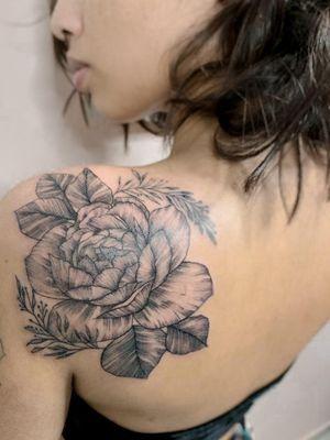 Floral Rastelado No Ombro
