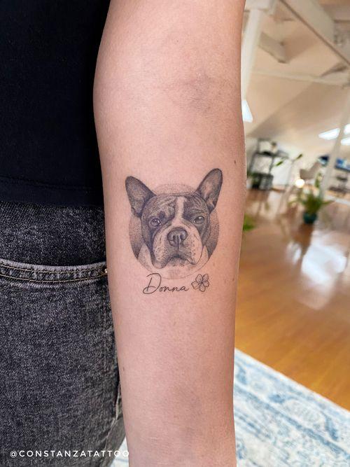 Dog portrail  5.5 cms  3.5 hours