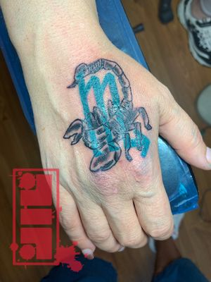 Scorpio sign blender on client…#zodiactattoo #signs #byjncustoms