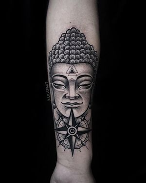 Buddha #blackandgrey #armtattoo #buddhatattoo
