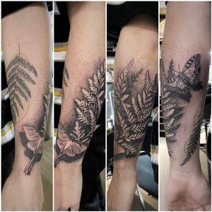 Series of photos showing the wrap around this forearm half sleeve