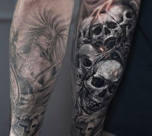 Great cover up by Andrés Makishi at inknationstudio please book your appointments now!!