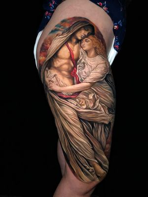 Impressive color realism work by Roberto Carlos book your next tattoo with inknationstudio!!!