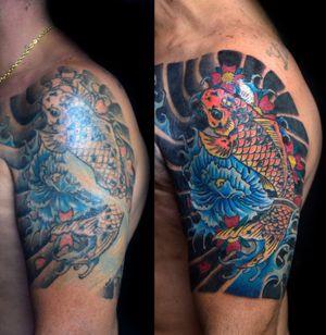 #koifish #koifishtattoo #carpatattoo #touchuptattoo #tatuagemreforma #koitattoo