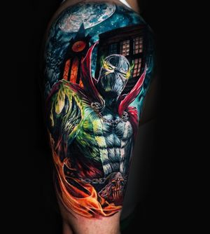 Amazing realism spawn by Andrés Makishi book your next tattoo session with us!!!