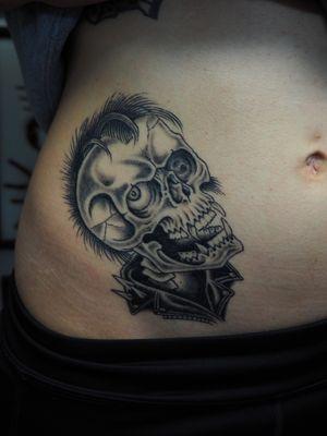 Healed tattoo! Punk skull