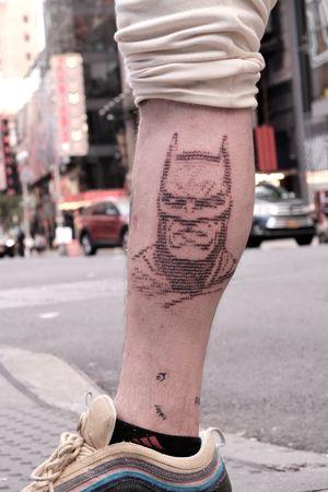 Batman portrait tattoo