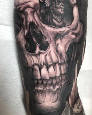 Skull filler! Love doing skulls
