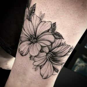 Floral fineline tattoo