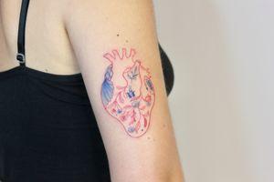 Folk heart tattoo