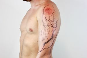 Abstract lines tattoo