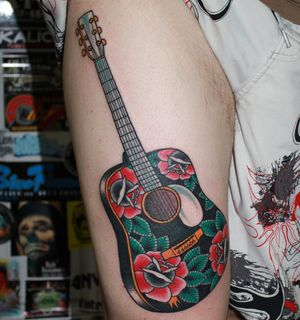 Guitar by Myke Chambers #traditional #guitar