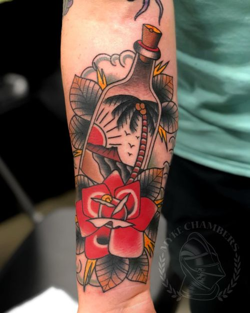 Message in a bottle by Mike Chambers #traditional