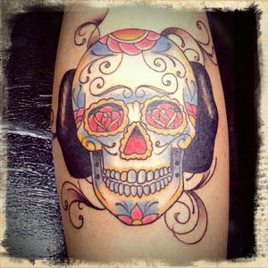 #sugarskull #dayofthedead #skull #rose