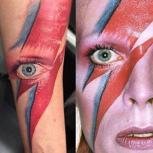 Realistic Bowie eye by Frank Harvey #davidbowie #ziggystardust #eye #realistic #realism#portrait #castrotattoo #thecastro #bayarea #sanfrancisco #portrait #frankharvey