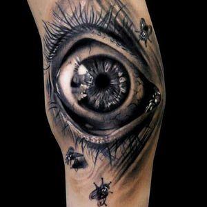 #realistic #horror #eye #blackandgrey #blackwork